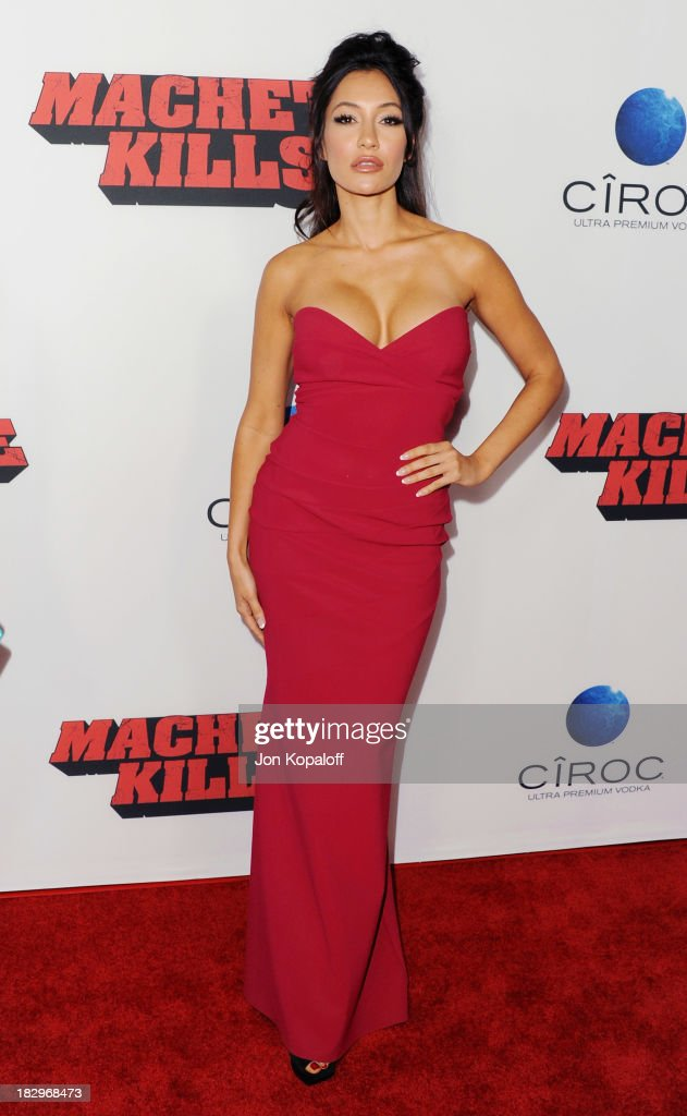 Actress Kea Ho arrives at the Los Angeles Premiere 'Machete Kills' at Regal Cinemas L.A. Live on October 2, 2013 in Los Angeles, California.
