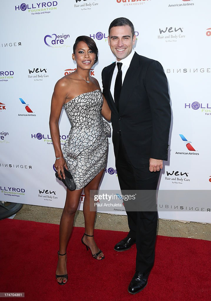 Actress Kearran Giovanni (L) and Fashion Designer Rubin Singer (R) attend the 15th annual DesignCare charity event on July 27, 2013 in Malibu, California.