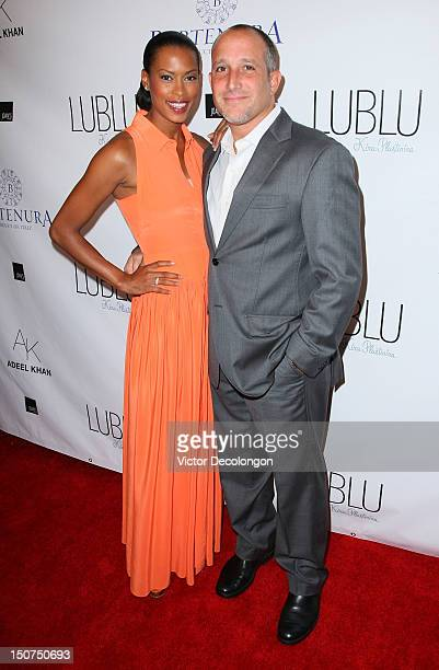Actress Kearran Giovanni and husband arrive at the Kira Plastinina Adeel Khan Celebrate The LUBLU Autumn/Winter 2013 Collection on August 25 2012 in...