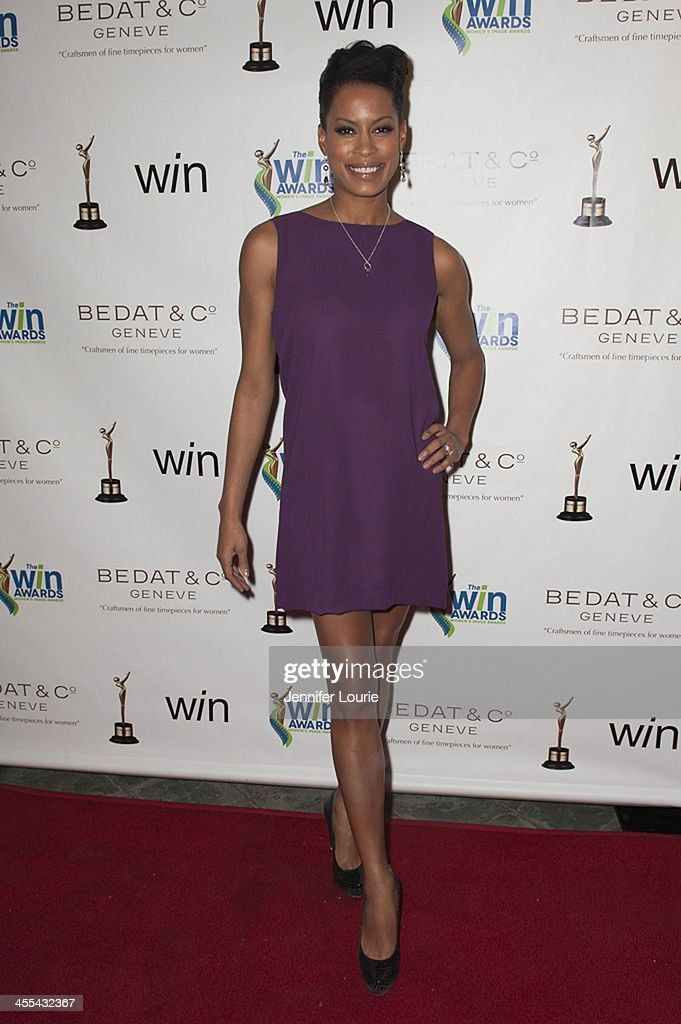 Actress Kearran Giovanni arrives at the annual 2013 Women's Image Awards at Santa Monica Bay Woman's Club on December 11, 2013 in Santa Monica, California.