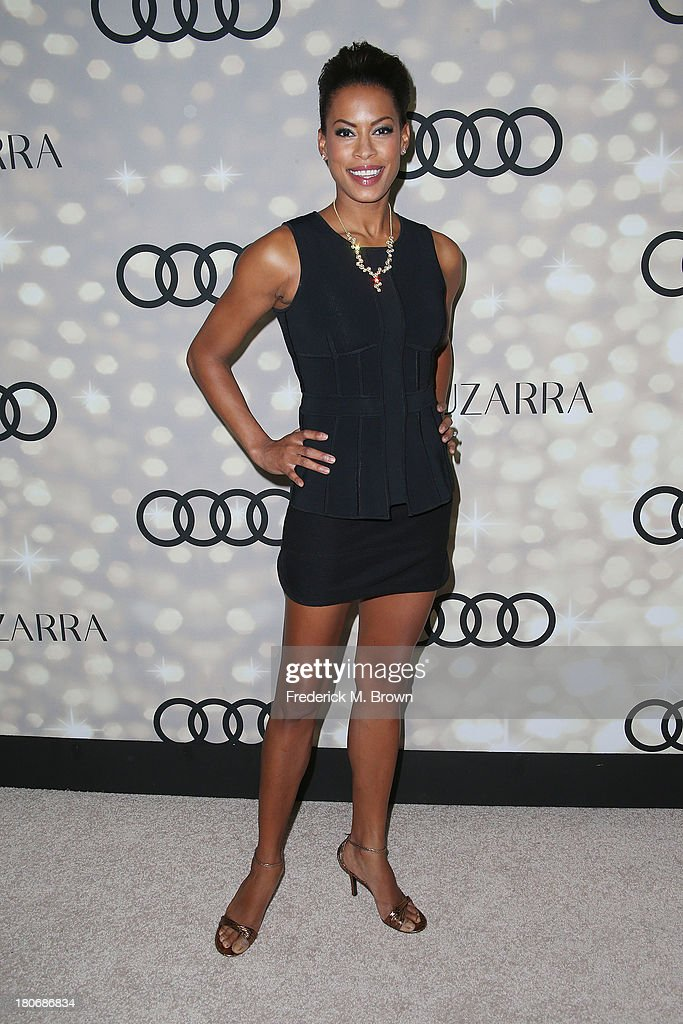 Actress Kearran Giovanni attends Audi and Altuzarra's Primetime Emmy Awards Week 2013 Kick-Off Party at Cecconi's Restaurant on September 15, 2013 in Los Angeles, California.