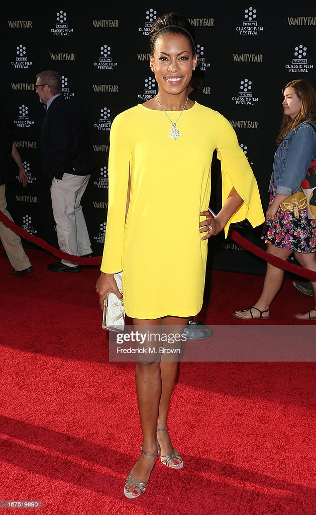 Actress Kearran Giovanni attends the 2013 TCM Classic Film Festival Opening Night Gala screening of 'Funny Girl' at the TCL Chinese Theatre on April 25, 2013 in Hollywood, California.