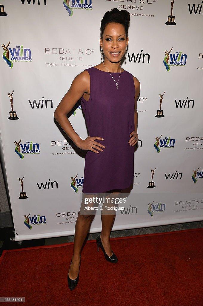 Actress Kearran Giovanni attends the WIN Awards at Santa Monica Bay Womans Club on December 11, 2013 in Santa Monica, California.