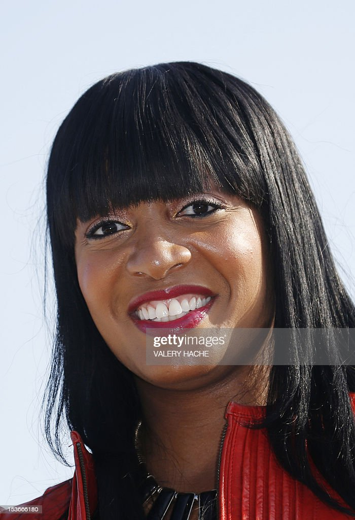 Actress Keasha Rigsby poses during a photocall for the TV show 'Keasha's Perfect Dress'as part of the Mipcom international audiovisual trade show at the Palais des Festivals, in Cannes, southeastern France, on October 8, 2012. AFP PHOTO / VALERY HACHE