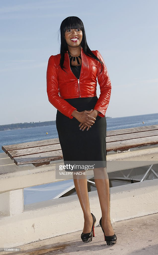 Actress Keasha Rigsby poses during a photocall for the TV show 'Keasha's Perfect Dress'as part of the Mipcom international audiovisual trade show at the Palais des Festivals, in Cannes, southeastern France, on October 8, 2012.