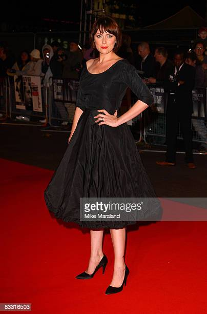 Actress Keeley Hawes arrives at the London Film Festival Opening Night Gala of Frost/ Nixon at the Odeon Leicester Square in London on 15th October...