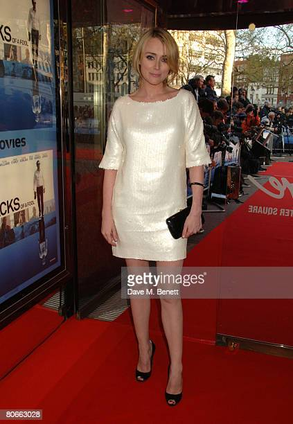 Actress Keeley Hawes attends the premiere of 'Flash Back of a Fool' at theEmpire Leicester Square on April 13 2008 in London England