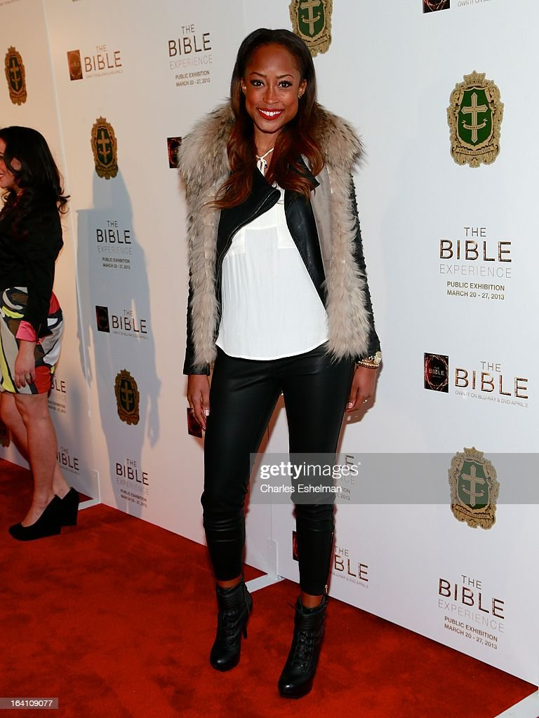 Actress Keenyah Hill attends 'The Bible Experience' Opening Night Gala at The Bible Experience on March 19, 2013 in New York City.