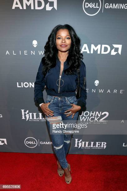 Actress Keesha Sharp arrives to Alienware and Dell Gaming E3 kick off party on June 12 2017 in Los Angeles California