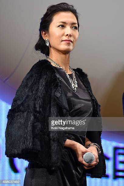 Actress Kei Aran attends the world premiere of 'The Nutcracker' during the 27th Tokyo International Film Festival at Roppongi Hills on October 29...