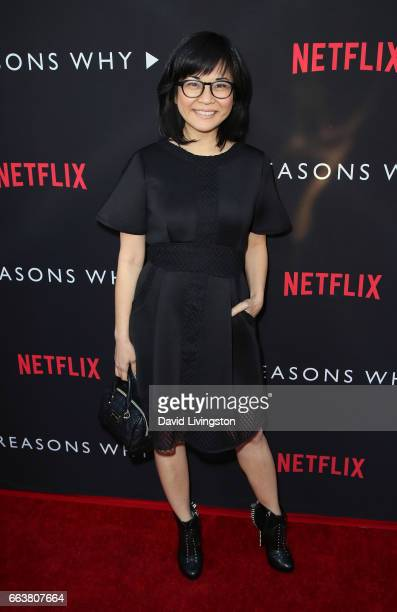 Actress Keiko Agena attends the premiere of Netflix's '13 Reasons Why' at Paramount Pictures on March 30 2017 in Los Angeles California