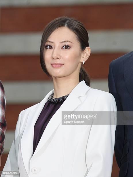 Actress Keiko Kitagawa attends 'HERO' PR event on July 5 2015 in Tokyo Japan