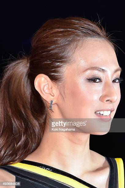Actress Keiko Kitagawa earring detail attends the opening ceremony of the Tokyo International Film Festival 2015 at Roppongi Hills on October 22 2015...