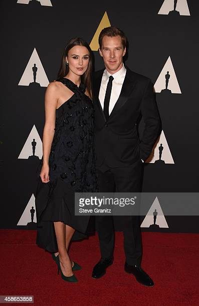 Actress Keira Knightley and actor Benedict Cumberbatch attend the Academy Of Motion Picture Arts And Sciences' 2014 Governors Awards at The Ray Dolby...