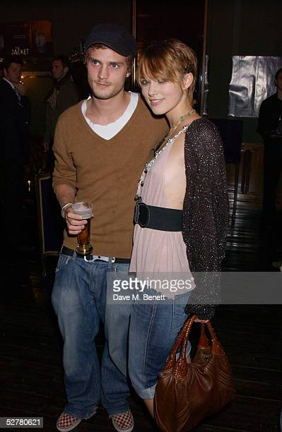 Actress Keira Knightley and boyfriend Jamie Dorman attend the screening of 'The Jacket' at the Rex Cinema and bar on May 9 2005 in London England