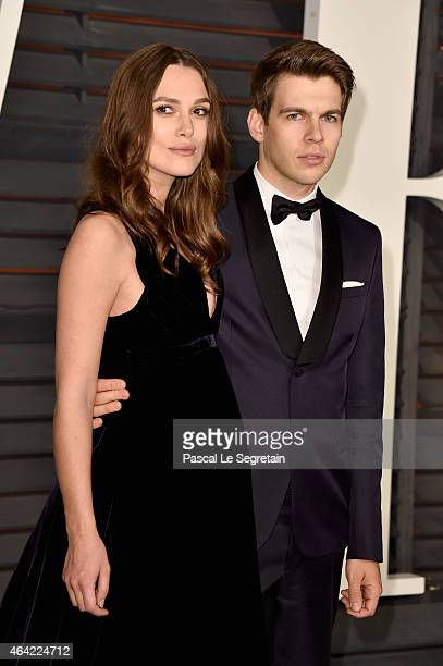 Actress Keira Knightley and composer James Righton attend the 2015 Vanity Fair Oscar Party hosted by Graydon Carter at Wallis Annenberg Center for...