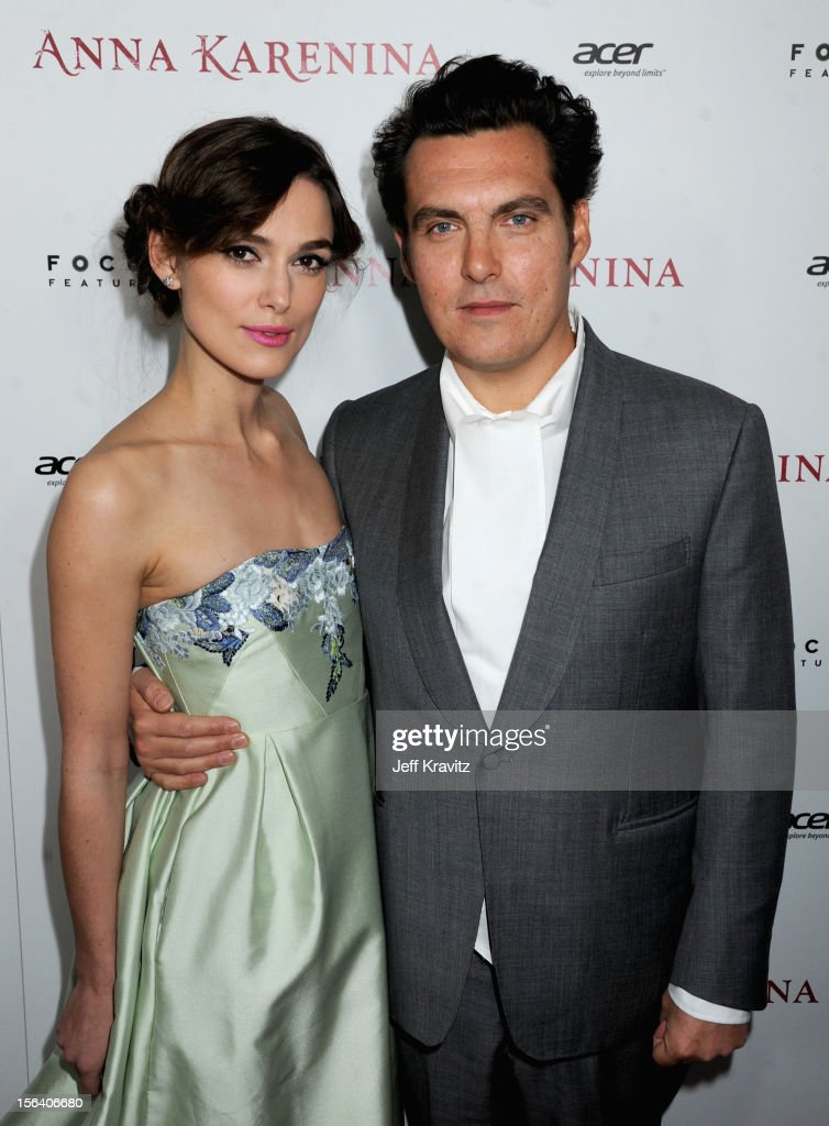 Actress <a gi-track='captionPersonalityLinkClicked' href=/galleries/search?phrase=Keira+Knightley&family=editorial&specificpeople=202053 ng-click='$event.stopPropagation()'>Keira Knightley</a> and director <a gi-track='captionPersonalityLinkClicked' href=/galleries/search?phrase=Joe+Wright+-+Director&family=editorial&specificpeople=771298 ng-click='$event.stopPropagation()'>Joe Wright</a> attend the 'Anna Karenina' Los Angeles Premiere held at ArcLight Hollywood on November 14, 2012 in Hollywood, California.