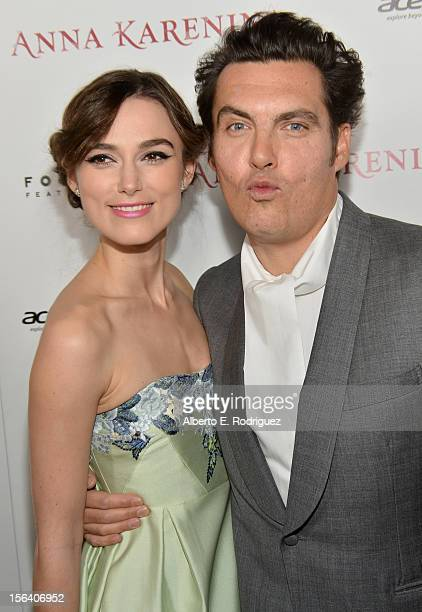 Actress Keira Knightley and director Joe Wright attend the premiere of Focus Features' 'Anna Karenina' held at ArcLight Cinemas on November 14 2012...