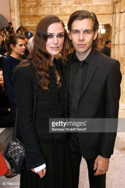 Actress Keira Knightley and her husband musician James Righton attend the Chanel Cruise 2017/2018 Collection Show at Grand Palais on May 3 2017 in...