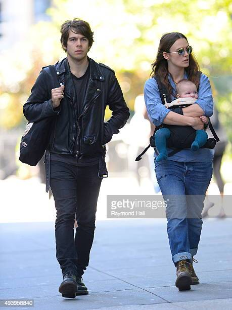 Actress Keira Knightley and husband James Righton are seen in Soho October 23 2015 in New York City