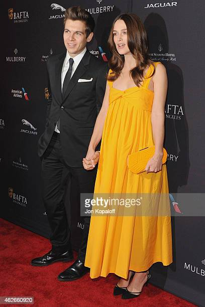 Actress Keira Knightley and husband James Righton arrive at the 2015 BAFTA Tea Party at The Four Seasons Hotel on January 10 2015 in Beverly Hills...