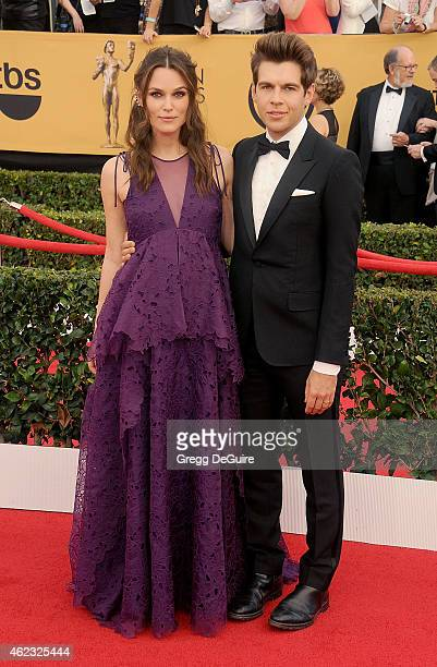 Actress Keira Knightley and husband James Righton arrive at the 21st Annual Screen Actors Guild Awards at The Shrine Auditorium on January 25 2015 in...