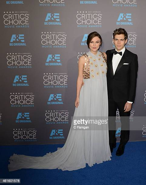Actress Keira Knightley and husband James Righton arrive to The 20th Annual Critics' Choice Movie Awards at Hollywood Palladium on January 15 2015 in...