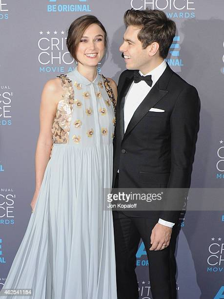 Actress Keira Knightley and James Righton arrive at the 20th Annual Critics' Choice Movie Awards at Hollywood Palladium on January 15 2015 in Los...