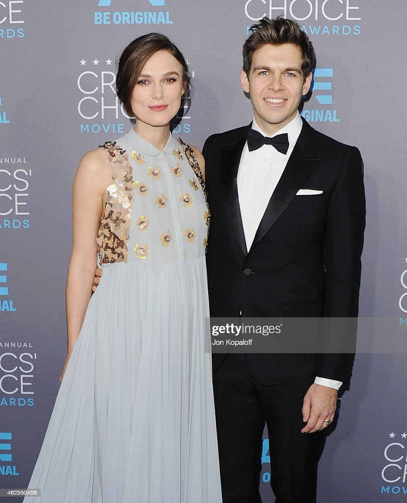 Actress Keira Knightley and James Righton arrive at the 20th Annual Critics' Choice Movie Awards at Hollywood Palladium on January 15, 2015 in Los Angeles, California.