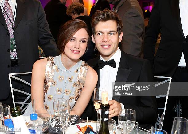 Actress Keira Knightley and James Righton attend the 20th annual Critics' Choice Movie Awards at the Hollywood Palladium on January 15 2015 in Los...