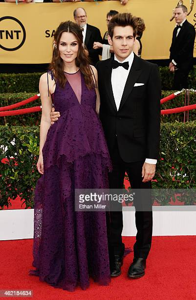 Actress Keira Knightley and James Righton attend the 21st Annual Screen Actors Guild Awards at The Shrine Auditorium on January 25 2015 in Los...
