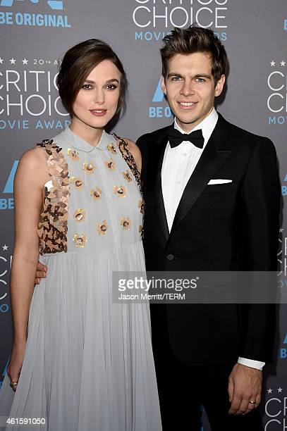 Actress Keira Knightley and musician James Righton attend the 20th annual Critics' Choice Movie Awards at the Hollywood Palladium on January 15 2015...