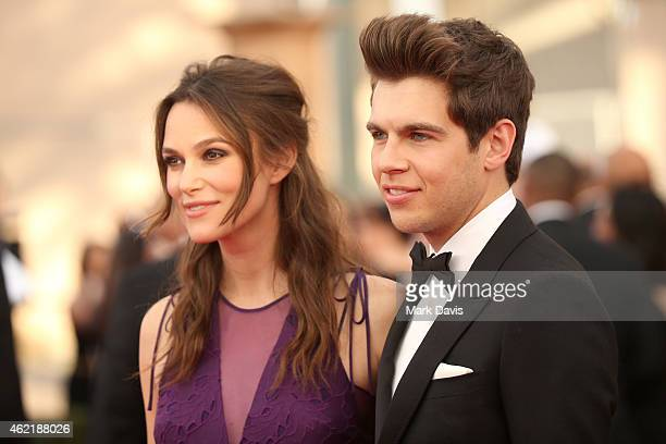 Actress Keira Knightley and musician James Righton attend TNT's 21st Annual Screen Actors Guild Awards at The Shrine Auditorium on January 25 2015 in...