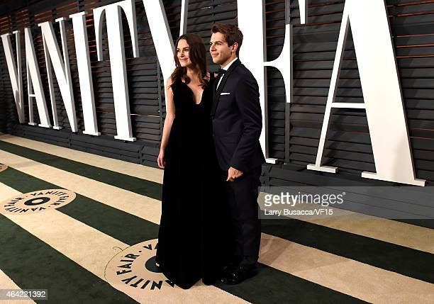 Actress Keira Knightley and recording artist James Righton attend the 2015 Vanity Fair Oscar Party hosted by Graydon Carter at the Wallis Annenberg...