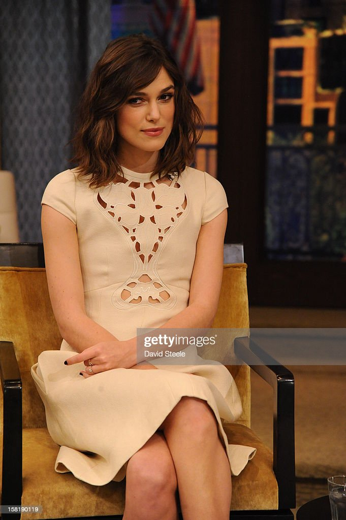 MICHAEL -12/7/12 - Actress Keira Knightley appears on the newly-rechristened syndicated talk show, LIVE with Kelly and Michael,' distributed by Disney-ABC Domestic Television. STRAHAN
