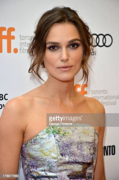 Actress Keira Knightley arrives at 'Can A Song Save Your Life' Premiere during the 2013 Toronto International Film Festival at Princess of Wales...