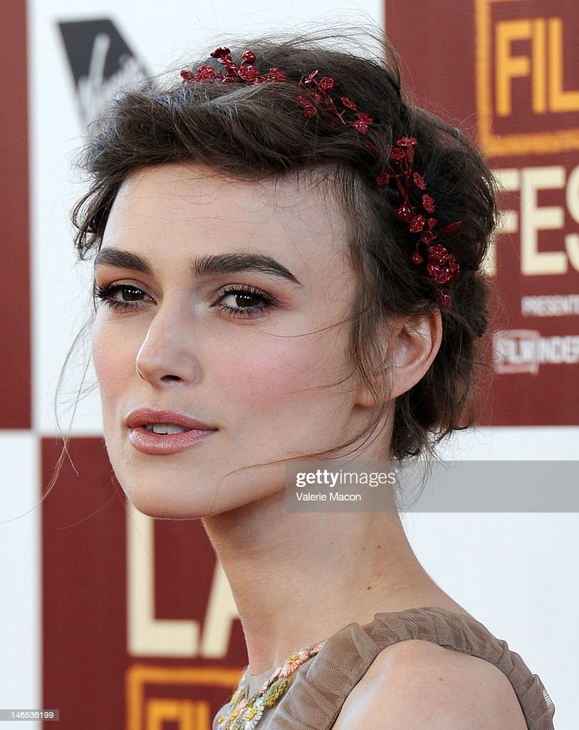 Actress <a gi-track='captionPersonalityLinkClicked' href=/galleries/search?phrase=Keira+Knightley&family=editorial&specificpeople=202053 ng-click='$event.stopPropagation()'>Keira Knightley</a> arrives at Film Independent's 2012 Los Angeles Film Festival premiere of Focus Features' 'Seeking A Friend For The End Of The World' at Regal Cinemas L.A. Live on June 18, 2012 in Los Angeles, California.