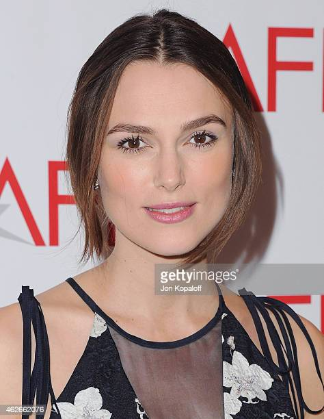 Actress Keira Knightley arrives at the 15th Annual AFI Awards at Four Seasons Hotel Los Angeles at Beverly Hills on January 9 2015 in Beverly Hills...