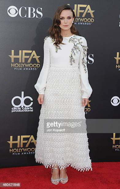 Actress Keira Knightley arrives at the 18th Annual Hollywood Film Awards at Hollywood Palladium on November 14 2014 in Hollywood California