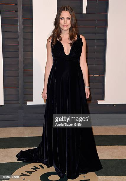 Actress Keira Knightley arrives at the 2015 Vanity Fair Oscar Party Hosted By Graydon Carter at Wallis Annenberg Center for the Performing Arts on...