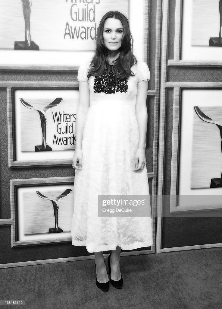 Actress Keira Knightley arrives at the 2015 Writers Guild Awards L.A. Ceremony at the Hyatt Regency Century Plaza on February 14, 2015 in Los Angeles, California.
