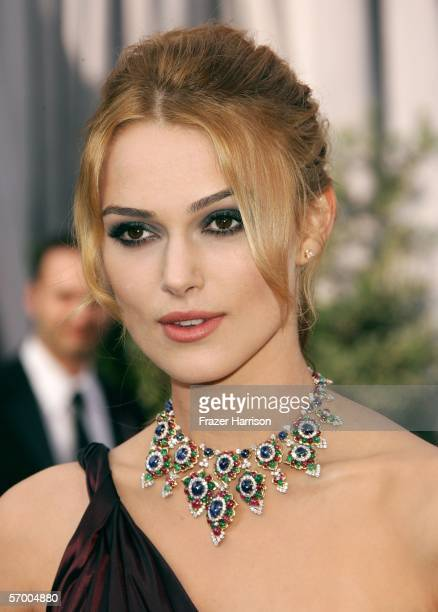 Actress Keira Knightley arrives at the 78th Annual Academy Awards at the Kodak Theatre on March 5 2006 in Hollywood California
