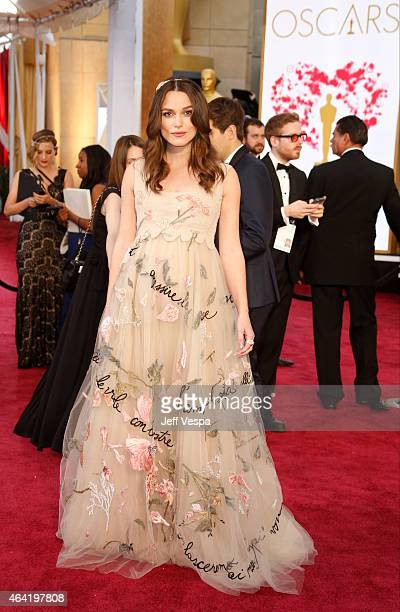 Actress Keira Knightley arrives at the 87th Annual Academy Awards at Hollywood Highland Center on February 22 2015 in Los Angeles California