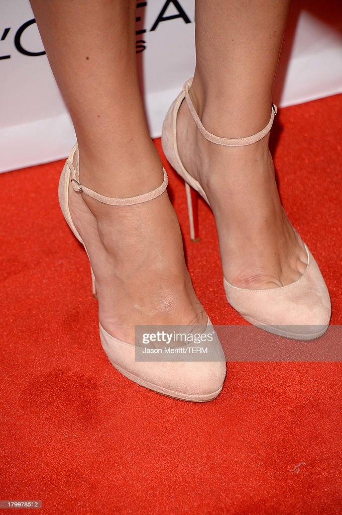 Actress Keira Knightley (shoe detail) arrives at the 'Can A Song Save Your Life?' premiere during the 2013 Toronto International Film Festival at Princess of Wales Theatre on September 7, 2013 in Toronto, Canada.
