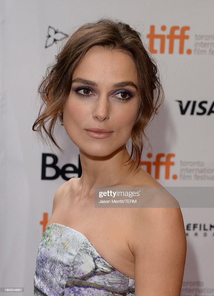 Actress Keira Knightley arrives at the 'Can A Song Save Your Life?' premiere during the 2013 Toronto International Film Festival at Princess of Wales Theatre on September 7, 2013 in Toronto, Canada.