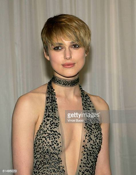 Actress Keira Knightley arrives at The Hollywood Awards Gala at the Beverly Hilton Hotel October 18 2004 in Beverly Hills California
