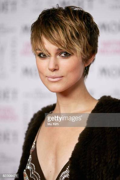 Actress Keira Knightley arrives at the Moet Chandon Fashion Tribute award at the biennial awards ceremony recognising excellence in the fashion...