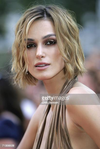 Actress Keira Knightley arrives at the Premiere of 'Pirates Of The Caribbean Dead Mans Chest' European Premiere on July 3 2006 in London England