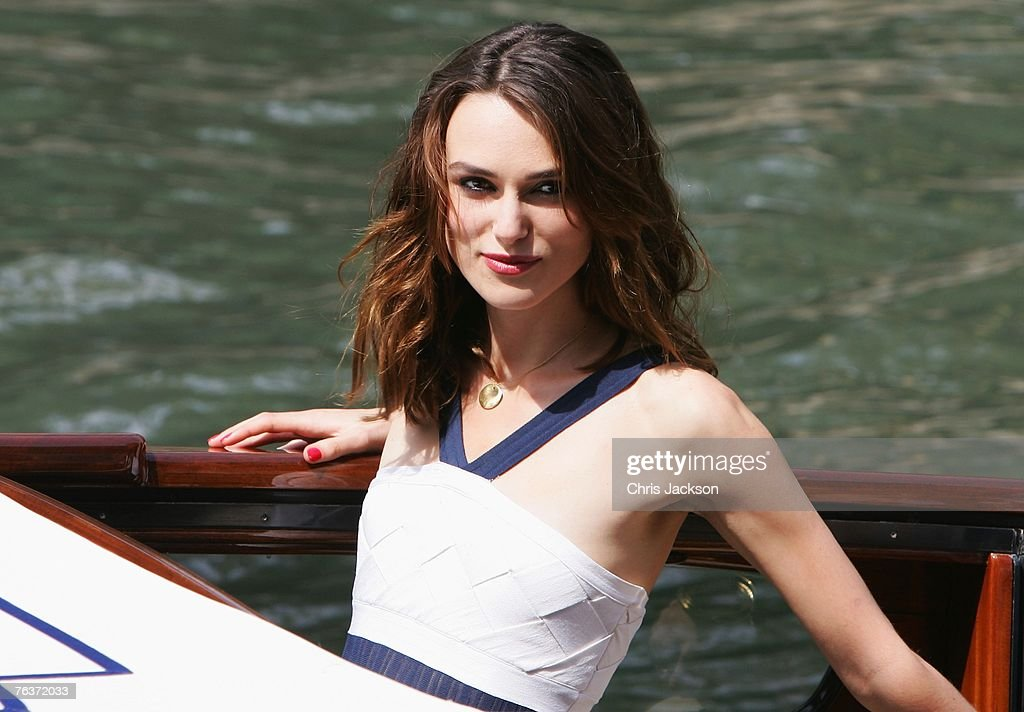 Actress Keira Knightley arrives to attend the Atonement photocall during Day 1 of the 64th Annual Venice Film Festival on August 29, 2007 in Venice, Italy.