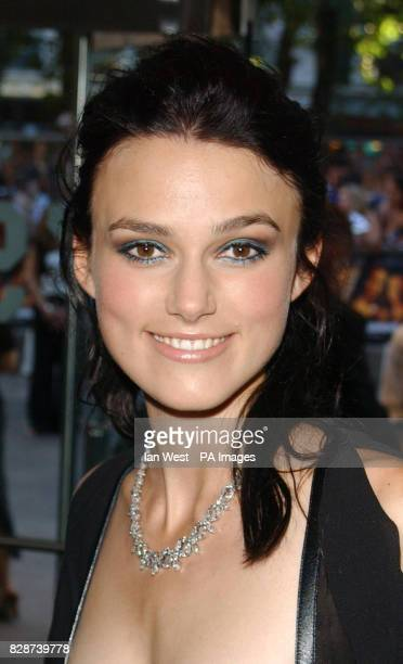 Actress Keira Knightley arriving at the Odeon Leicester Square London for the European premiere of Pirates of the Caribbean * 1/9/03 The actress has...
